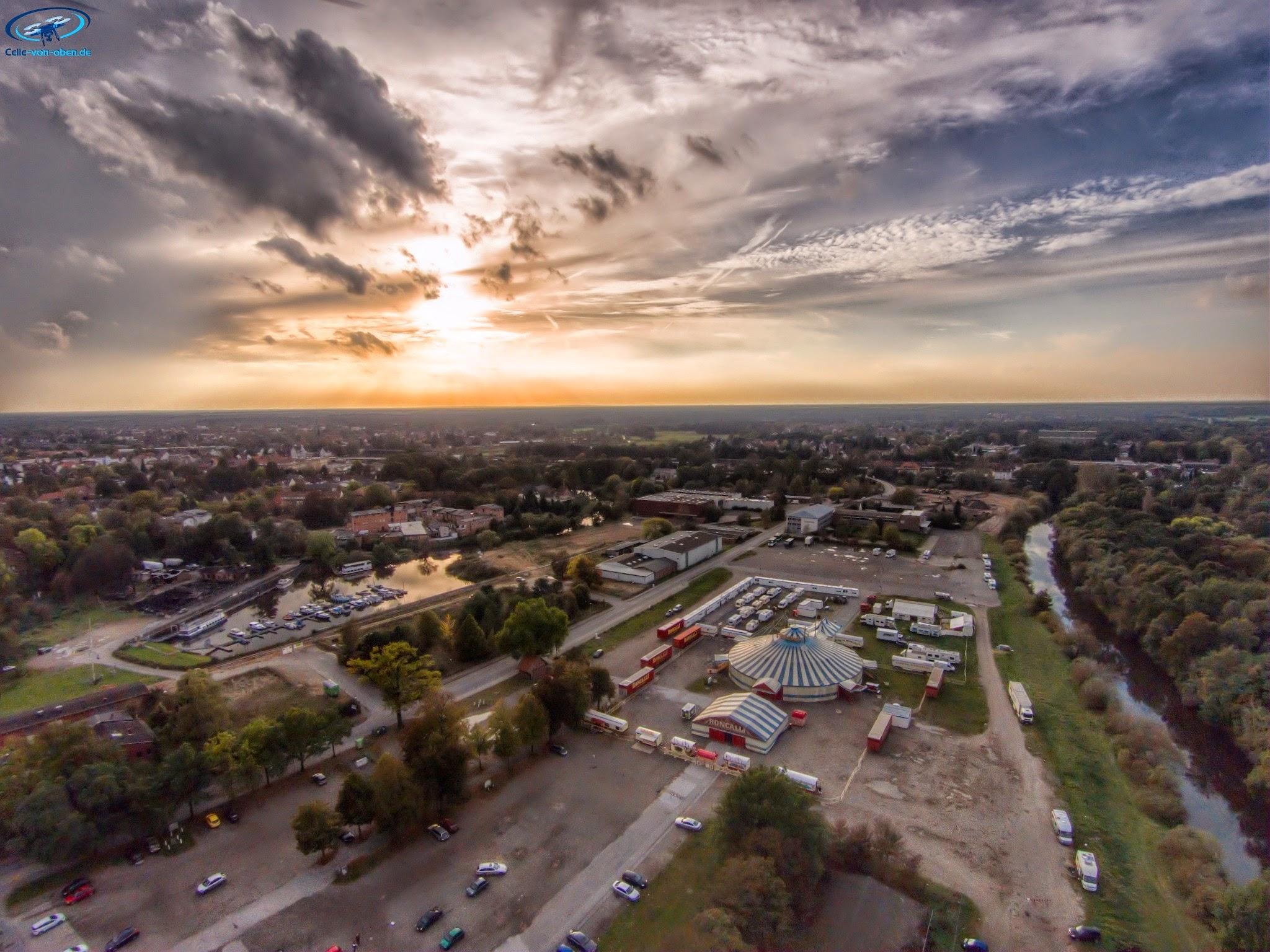 Luftaufnahme Circus Roncalli in Celle