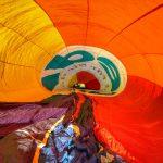 Heißluftballon im Inneren