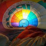 Heißluftballon aus der Innenansicht