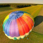 Heißluftballon beim Start
