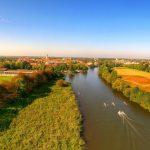 Ruderregatta in Celle 2015 - Luftbild über die Aller auf Celle