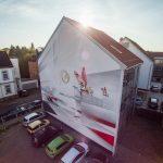 Sparkasse Celle Graffiti - Luftbild Celle von oben