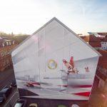 Sparkasse Celle Graffiti - Luftbilder