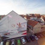 Sparkasse Celle Graffiti - Luftaufnahme