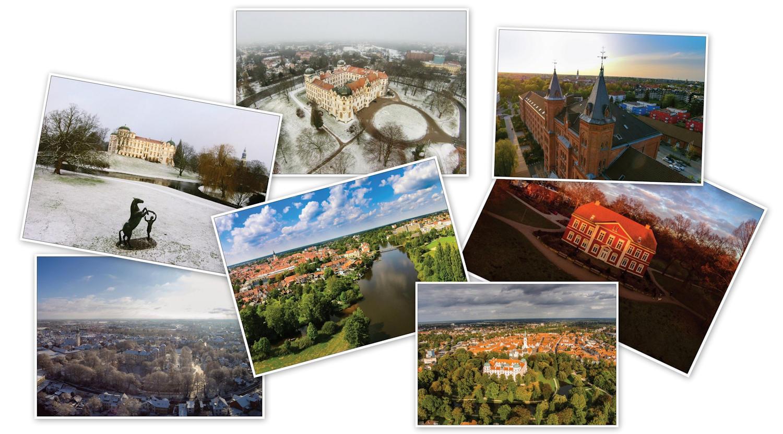 Erhältliche Postkarten von Celle aus der Luft