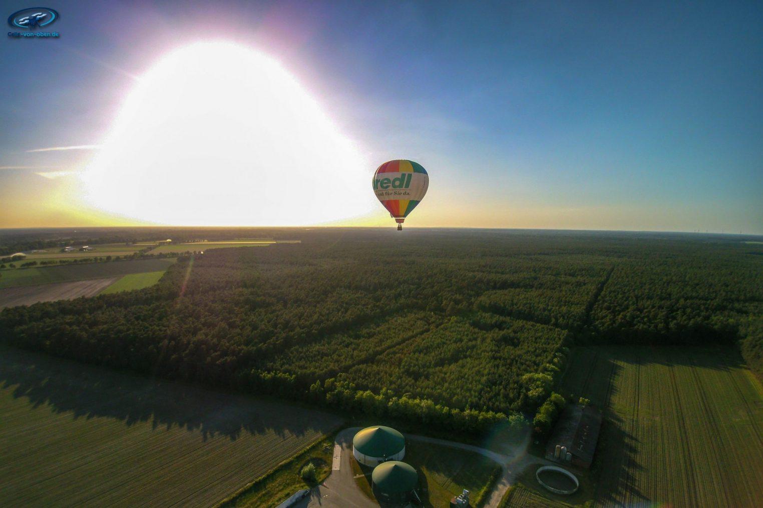 Ballonfahrt Richtung Celle