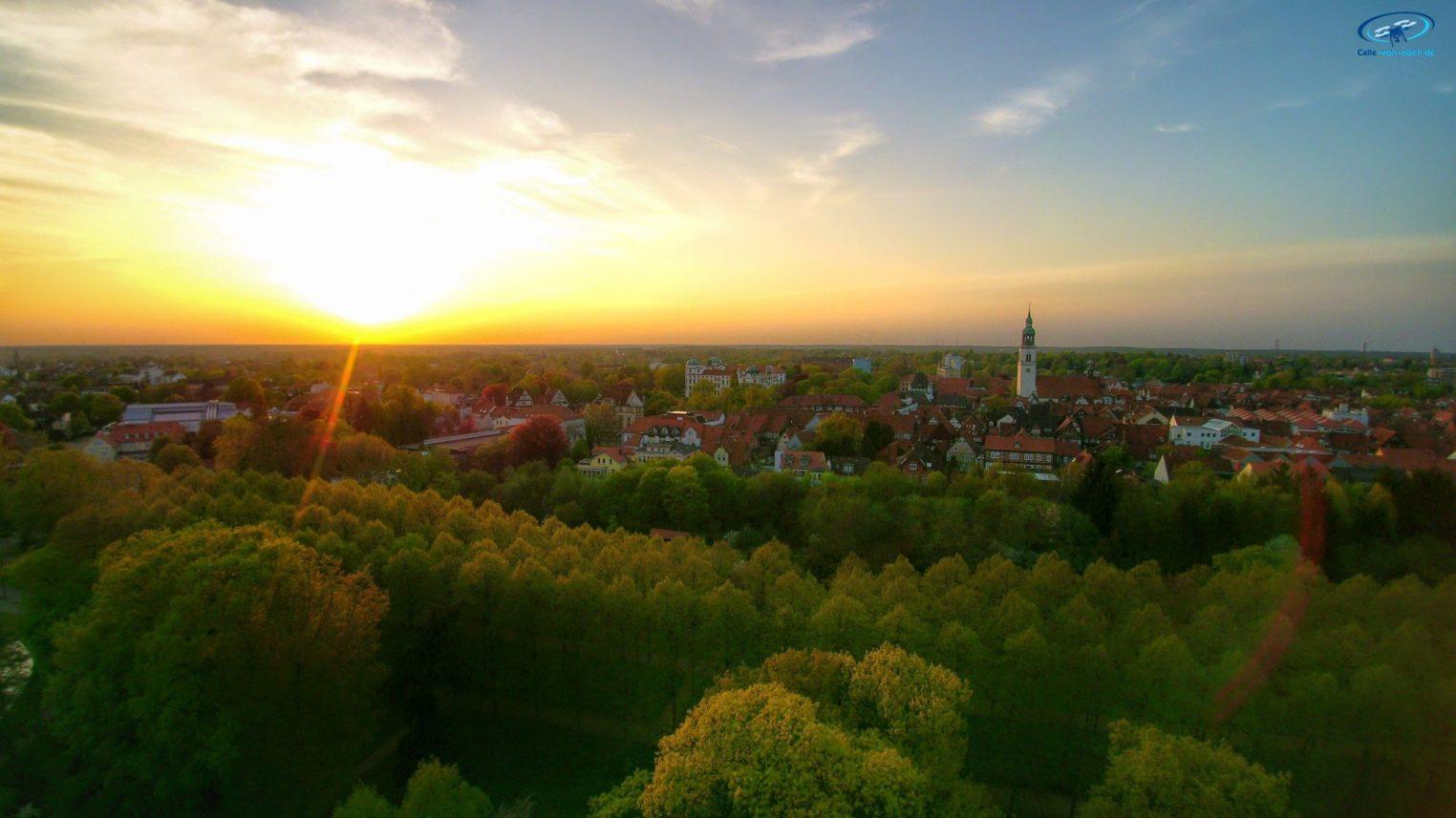 Celle Stadt Sonnenuntergang