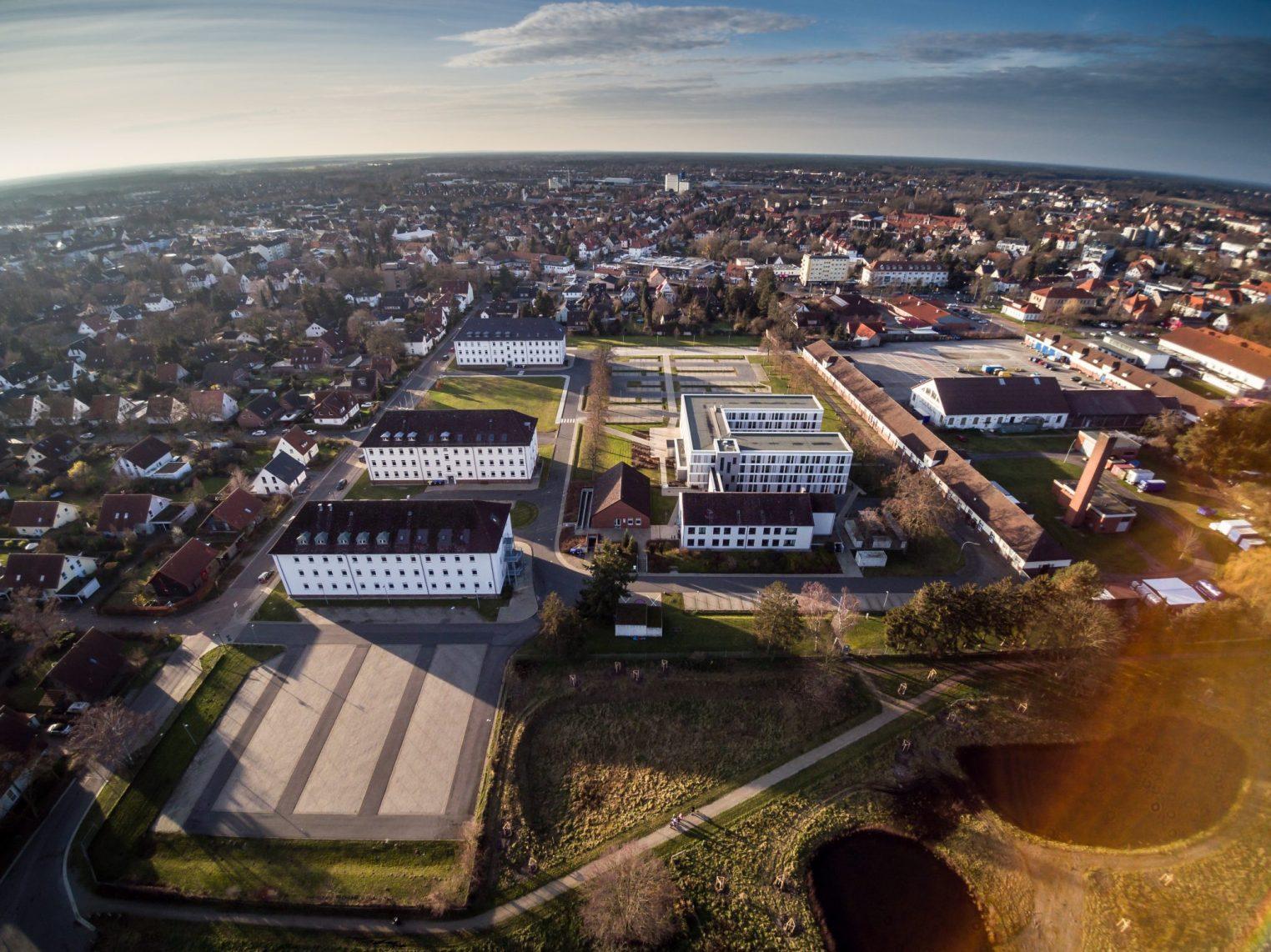 Celle von oben – Finanzamt in Celle