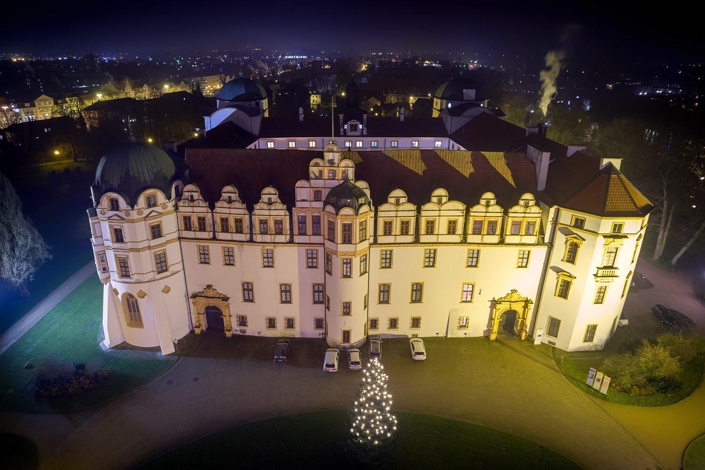 Residenzstadt Celle – Schloß bei Nacht zu Weihnachten