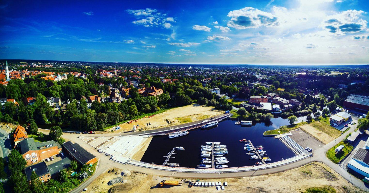 Hafen Celle von oben