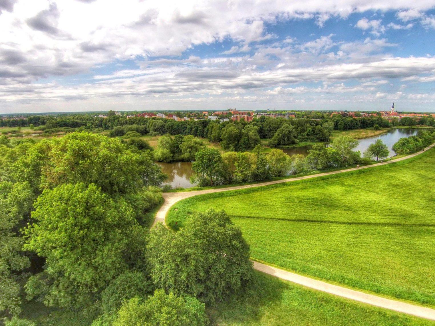 Dammaschwiesen Celle – blick auf die Stadt