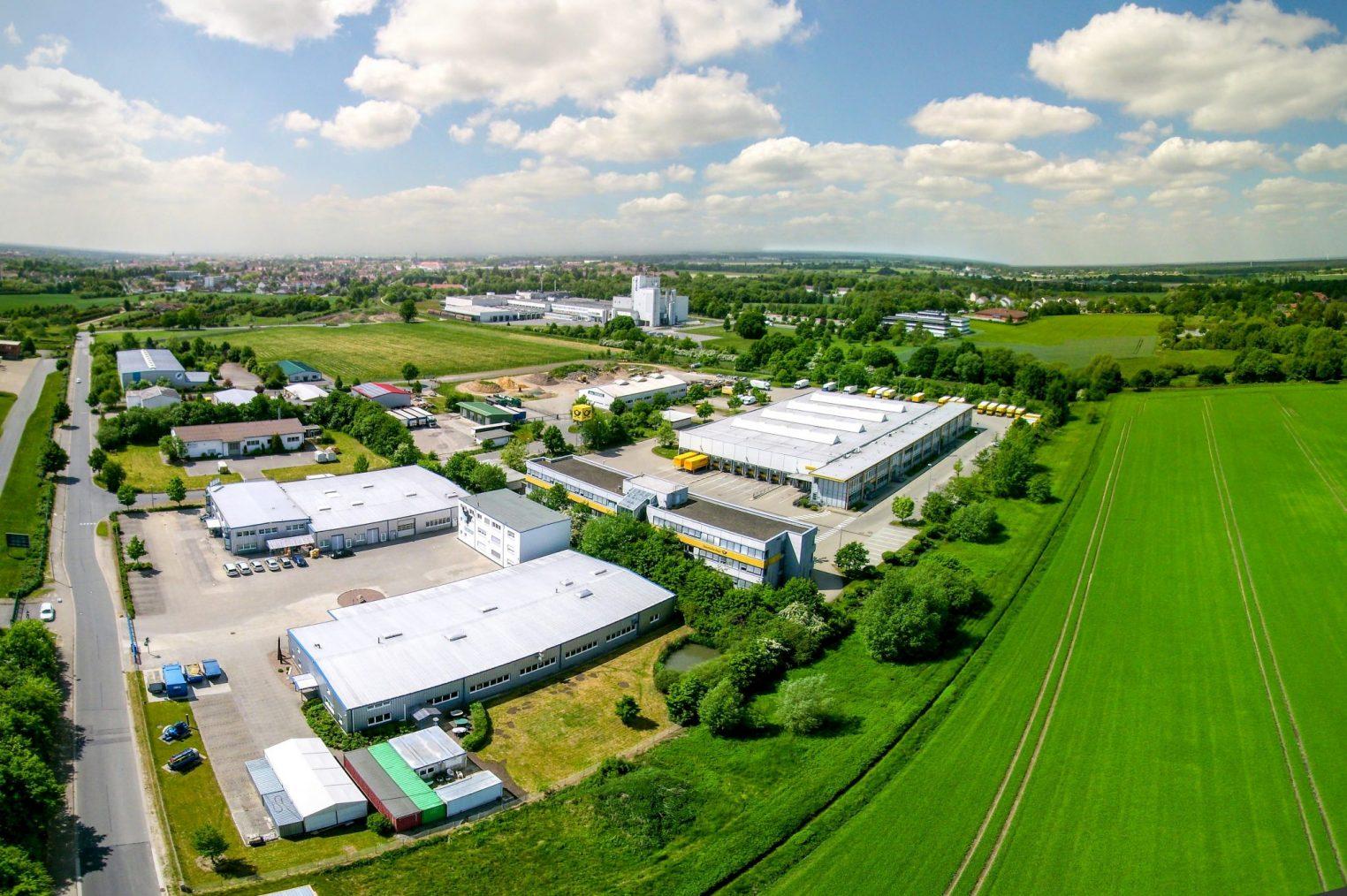 Gewerbegebiet Altenhagen Luftaufnahme